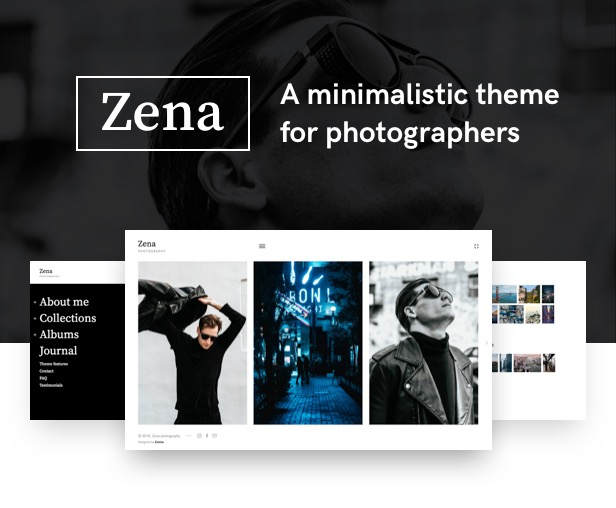 Zena, a minimalistic theme for photographers - 1